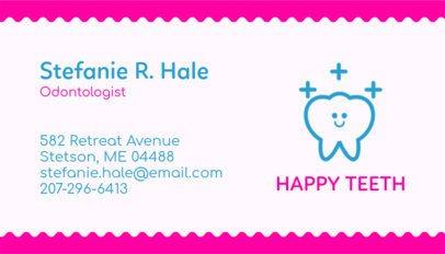 Odontology Expert Business Card Maker 562c