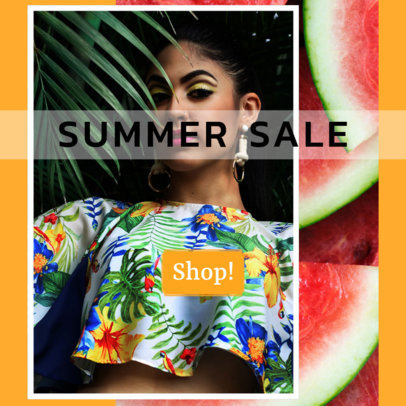 Summer Sale Ad Banner Maker with Vibrant Colors 526e