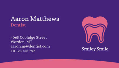 Dental Health Professional Business Card Maker 562d