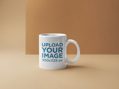 Coffee Mug Mockup Placed in a Minimal Background 22367