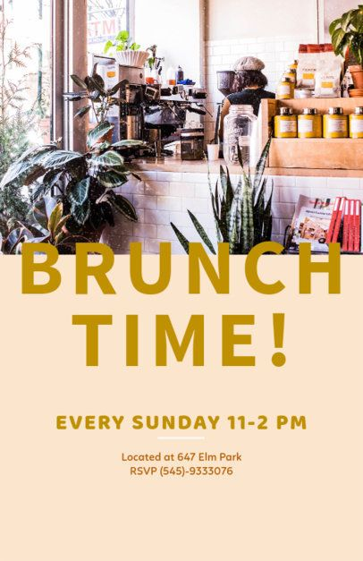 Brunch Promo Flyer Maker 506a