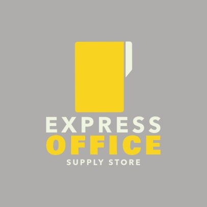 Logo Template for Stationery Supply Stores 1380d