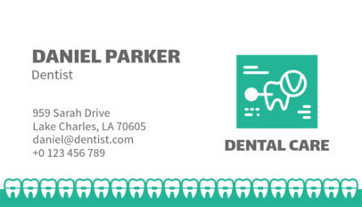 Business Card Maker for Dental Care Clinics 562e