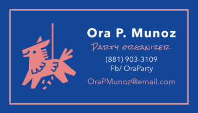 Business Card Creator for Party Organization 567a
