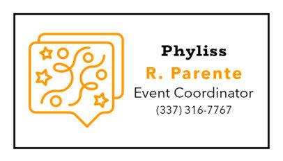 Simple Event Coordinator Business Card Template 567b