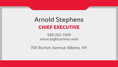 Business Card Template for Executives 555d
