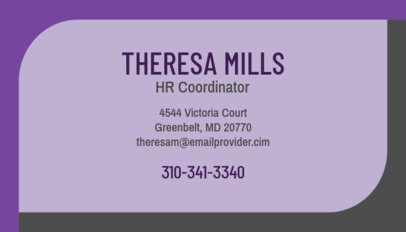 Coordinator Business Card Maker 555e