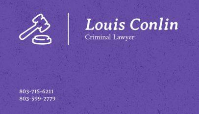 Criminal Lawyer Business Card Template 566c