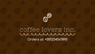 Business Card Maker for Coffee Connoisseur 570a