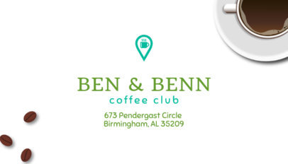 Coffee Club Business Card Creator 570b