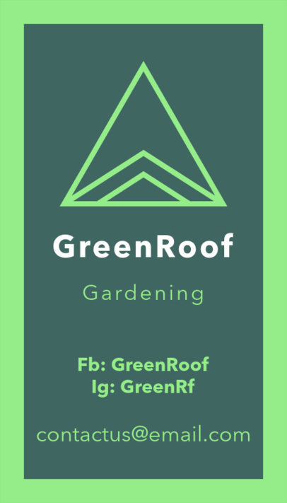 Fancy Business Card Creator with Line Art for Gardeners 17e