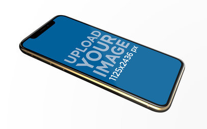 iPhone XS Mockup Floating in an Angled Position 22591