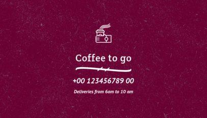 Coffee Roaster Business Card Generator 570e