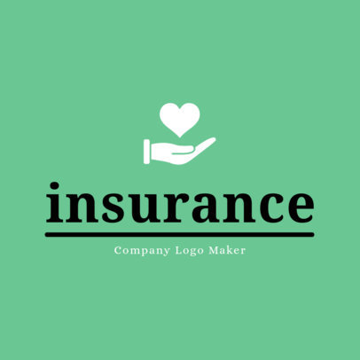 Logo Design Template for Insurance Agent 1382e