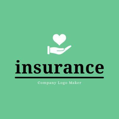 Logo Design Template for Insurance Agent 1382e