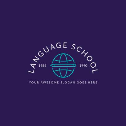Language Institute Logo Generator 1365