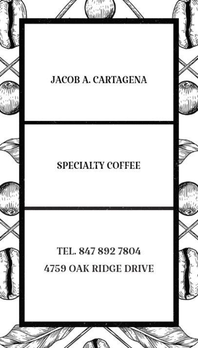 Specialty Coffee Business Card Creator 36c