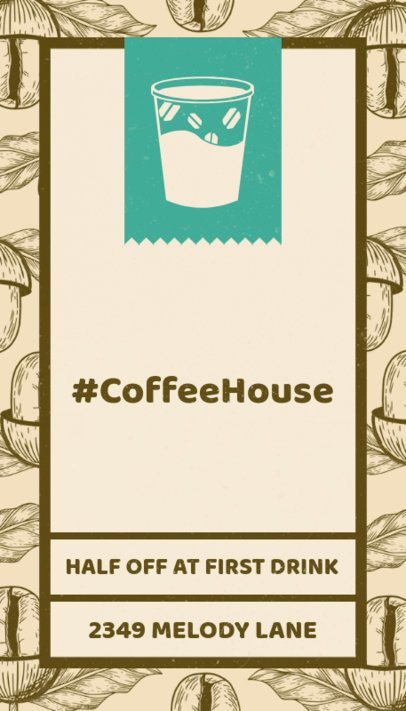 Simple Café Business Card Creator 36e-1903