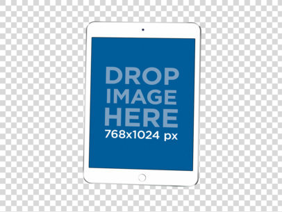 Render Mockup of an iPad on a Transparent Background 22474