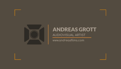 Business Card Maker for Audiovisual Artists a217d