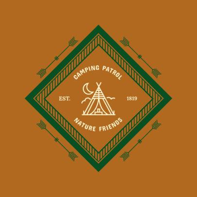Camping Logo Creator 1371a