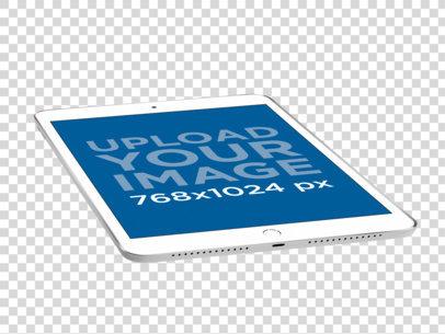 Render Mockup of a Silver iPad 22477