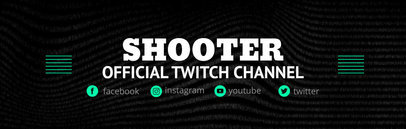 Twitch Channel Banner Maker with Minimalistic Graphics 603