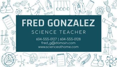 Science Professor Business Card Maker 575d