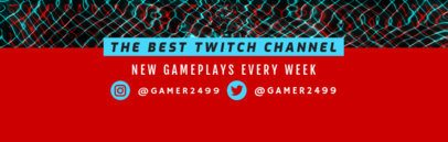 Gameplay Twitch Channel Banner Maker 594d