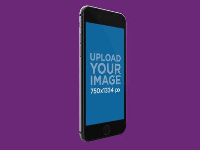 iPhone 8 Render Mockup Floating Over a Solid Background 22316