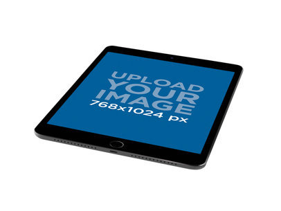 iPad Render Mockup Over a Flat Surface 22483