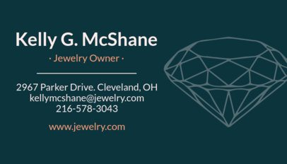 Professional Business Card Template for Jewellery Shops 563e