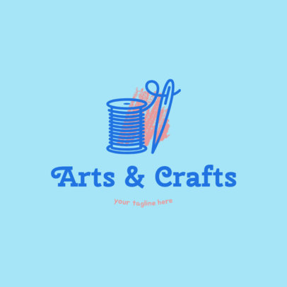 Arts and Crafts Logo Creator with Creative Font 1404