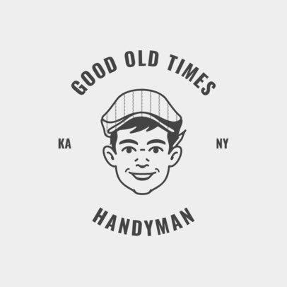 Retro Logo Template for Handyman Services 1427a