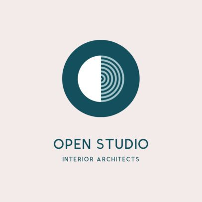 Architecture Studio Logo Maker with Circle and Lines 1420c