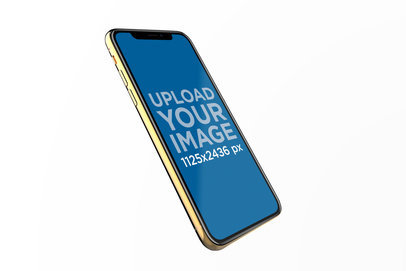 iPhone XS Render Mockup Slightly Leaning Backwards 22597