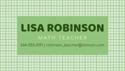 Online Business Card Maker for Math Teachers 575c