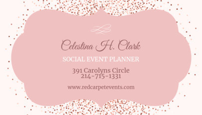 Business Card Maker for a Social Events Planner 564c