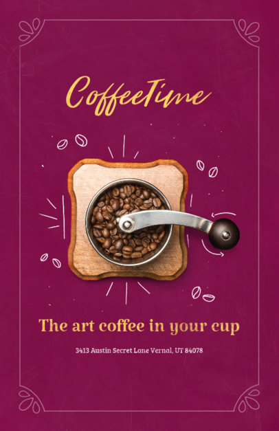 Coffee Shop Online Flyer Maker 404a
