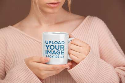 Coffee Mug Mockup Surrounded by Neutral Colors 22386