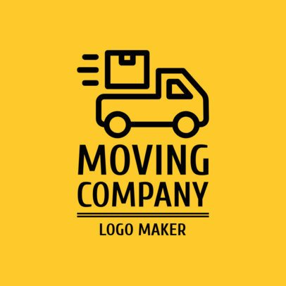 Moving Company Logo Maker with Box Graphics 1387c
