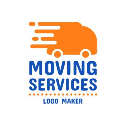 Logo Maker for Moving Companies with Truck Graphics 1387a