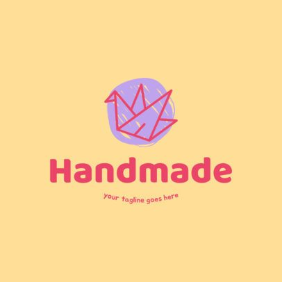 Online Logo Template for Crafts Shop 1404a