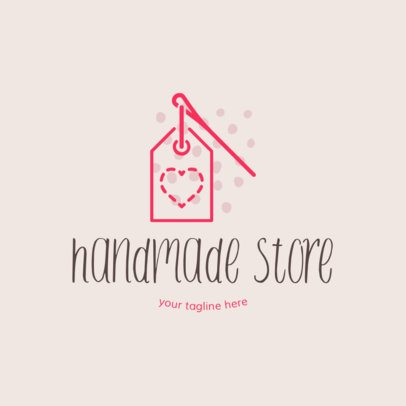 Crafts Logo Template with a Cute Handwriting Font 1404b
