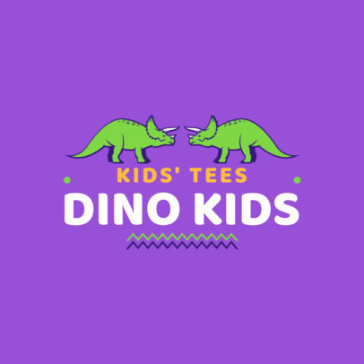 Kids' Tee Brand Logo Maker with Dinosaur Graphics 1322a