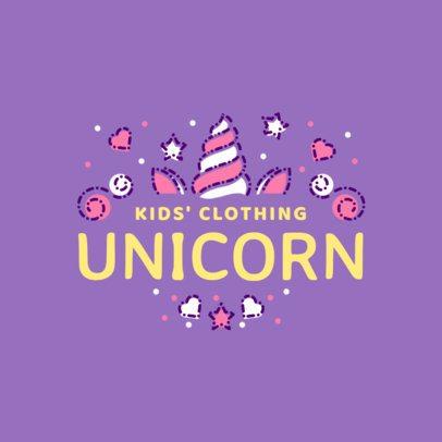 Kids' Clothing Brand Logo with Unicorn Graphics 1322e