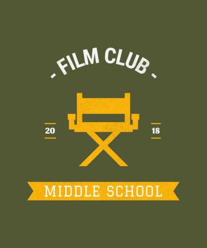 Film Club T-Shirt Design Template 484a
