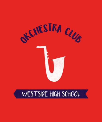 T-Shirt Design Maker for High School Orchestra Club 484c