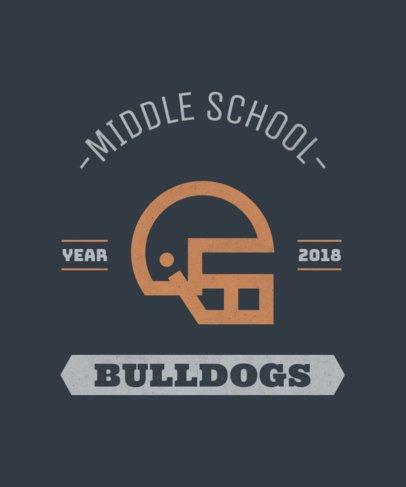 Middle School Football T-Shirt Design Template 484e