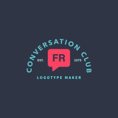 Conversation Club Logo Template 1365d